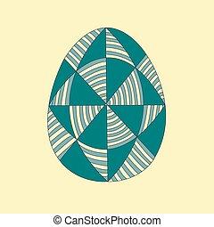 Easter egg.Easter eggs for Easter holidays design