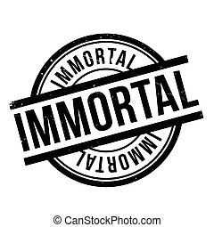 Immortal rubber stamp. Grunge design with dust scratches....