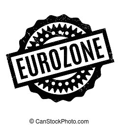 Eurozone rubber stamp. Grunge design with dust scratches....