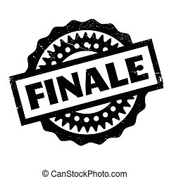 Finale rubber stamp. Grunge design with dust scratches....