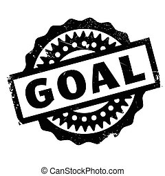 Goal rubber stamp. Grunge design with dust scratches....