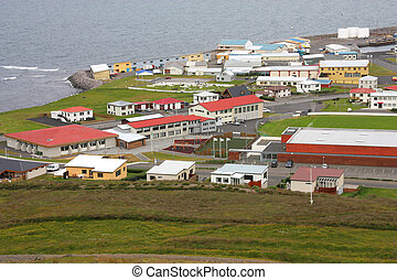 Snaefellsnes - Typical nordic town - Olafsvik at...