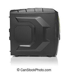 Black computer system unit. - Modern black computer system...