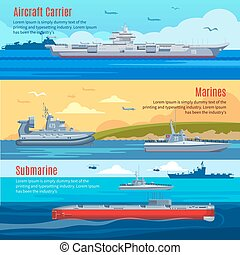 Military Fleet Horizontal Banners - Military fleet...