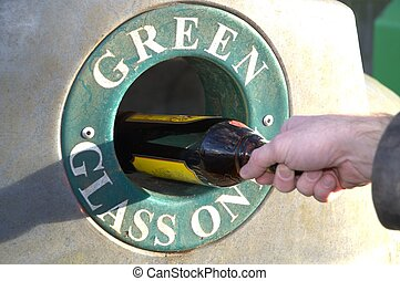 Incorrect glass bottle disposal - Incorrect: brown glass...