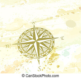 compass windrose - Vector illustration of vintage grunge...