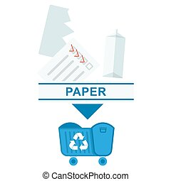 sorted garbage paper
