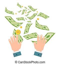 waste of money white - Waste of money concept. Dollar bills...