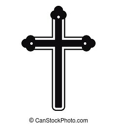 Holy cross icon , simple style - Holy cross icon. Simple...