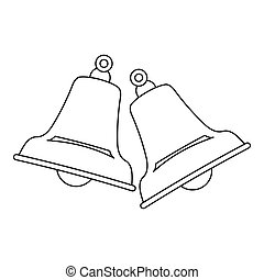 Bells icon , outline style