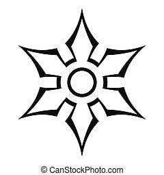 Ninja shuriken star weapon icon, outline style - Ninja...