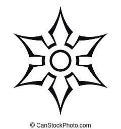 Ninja shuriken star weapon icon, outline style - Ninja...