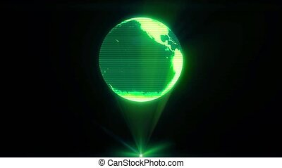 Earth hologram world holographic sci-fi projector futuristic...