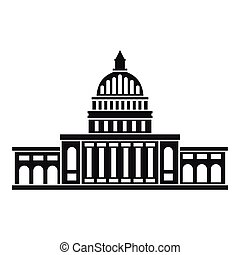 White house icon , simple style