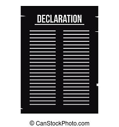 Declaration of independence icon, simple style