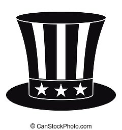 Uncle sam hat icon , simple style
