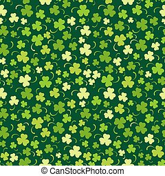 Happy St. Patricks day seamless background, vector...