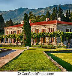 Italian villa - Beautiful romantic outdoor view with old...