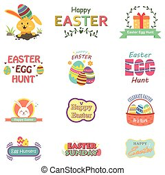 Easter Sunday Celebration - A vector illustration of Easter...