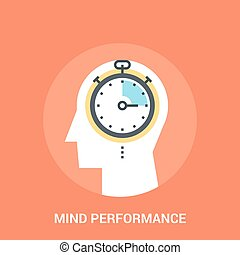 mind performance icon concept - Abstract vector illustration...