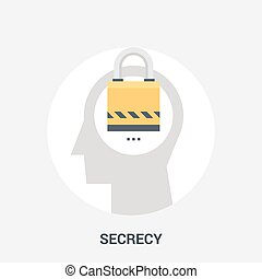 secrecy icon concept - Abstract vector illustration of...
