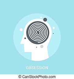obsession icon concept - Abstract vector illustration of...