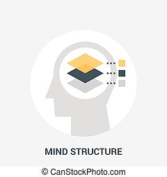mind structure icon concept - Abstract vector illustration...