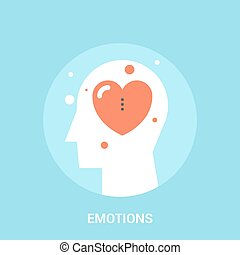 emotions icon concept - Abstract vector illustration of...