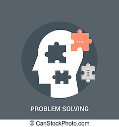 problem solving icon concept - Abstract vector illustration...