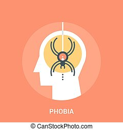 phobia icon concept - Abstract vector illustration of phobia...
