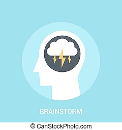 brainstorm icon concept - Abstract vector illustration of...
