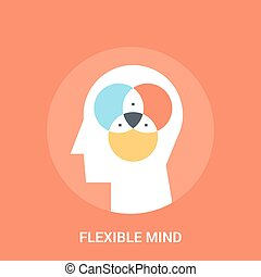 flexible mind icon concept - Abstract vector illustration of...