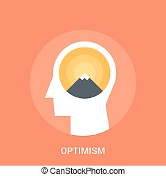 optimism icon concept - Abstract vector illustration of...