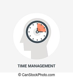 time management icon concept - Abstract vector illustration...