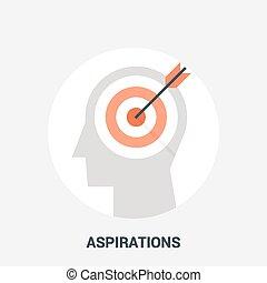 aspirations icon concept