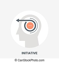 initiative icon concept - Abstract vector illustration of...