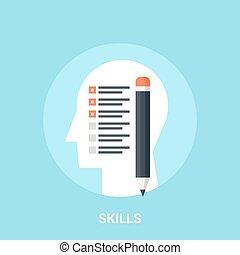 skills icon concept