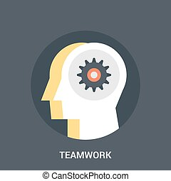 teamwork icon concept - Abstract vector illustration of...