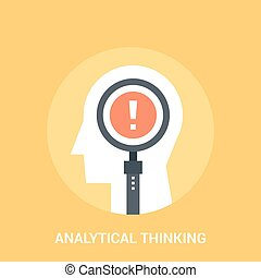 analytical thinking icon concept - Abstract vector...