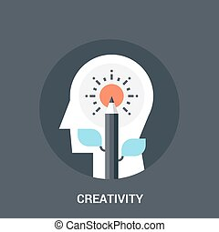 creativity icon concept - Abstract vector illustration of...