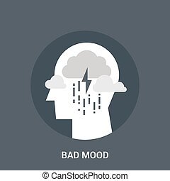 bad mood icon concept - Abstract vector illustration of bad...