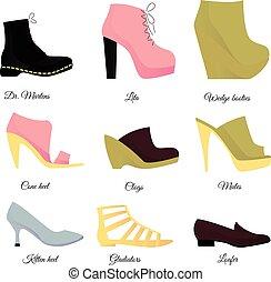 Shoes set vector illustration