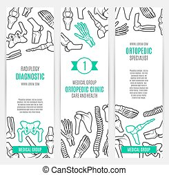 Medical banner template for orthopedics design