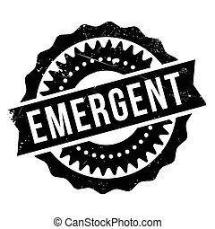 Emergent rubber stamp - Emergent stamp. Grunge design with...