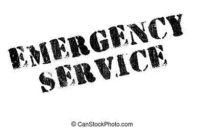 Emergency Service rubber stamp - Emergency Service stamp....