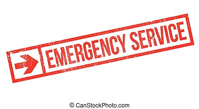 Emergency Service rubber stamp - Emergency Service stamp....