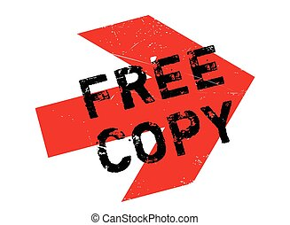 Free Copy rubber stamp - Free Copy stamp. Grunge design with...