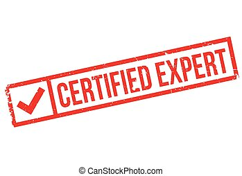 Certified Expert rubber stamp. Grunge design with dust...