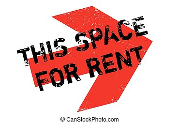 This Space For Rent rubber stamp - This Space For Rent...