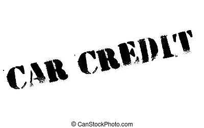 Car Credit rubber stamp. Grunge design with dust scratches....